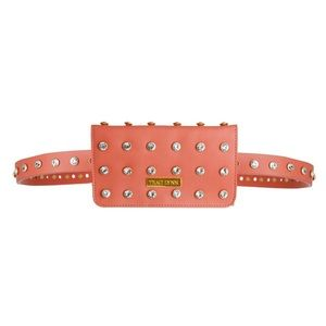 Coral studded fanny pack